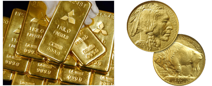 Figure 1. Gold (ingots) vs. Gold Coin (2009 $50 American Buffalo Gold Coin)